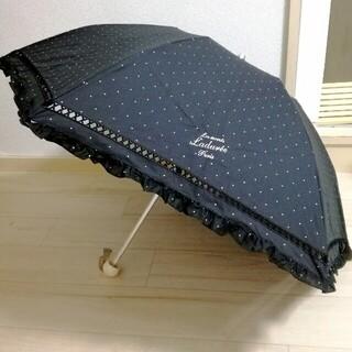 ラデュレ(LADUREE)の❤未使用❤折りたたみ傘 ポーチ袋付き ラデュレ 日傘 UVカット 紫外線カット(傘)