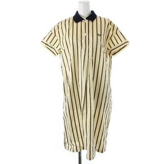 フレッドペリー(FRED PERRY)のフレッドペリー ポロドレス シャツワンピース 半袖 膝丈 ストライプ 刺繍 10(ひざ丈ワンピース)