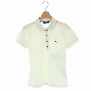 バーバリーブルーレーベル(BURBERRY BLUE LABEL)のバーバリーブルーレーベル ポロシャツ ホース刺繍 半袖 38 白 ホワイト(ポロシャツ)