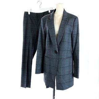 インディヴィ(INDIVI)のインディヴィ スーツ テーラードジャケット パンツ スラックス グレー(スーツ)