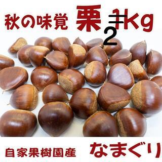 栗(生栗)2kg  送料無料  秋の味覚を直送(値下げ)