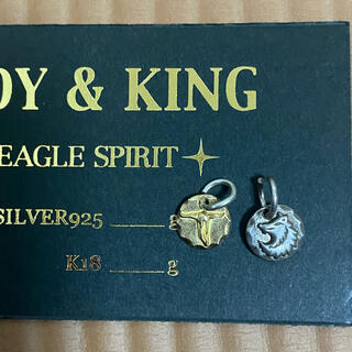 tady&king k18メタル シルバー ウルフ ロングホーン