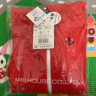 ミキハウス(mikihouse)のミキハウス ブラックベア パーカー 100(ジャケット/上着)
