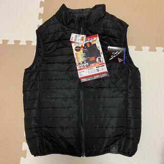 ウォークマン(WALKMAN)の新品 ワークマン 着るコタツ ウィンドコア ヒーターベスト S ブラック(ダウンベスト)