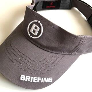 ブリーフィング(BRIEFING)のBRIEFING ブリーフィング サンバイザー グレー (ウエア)