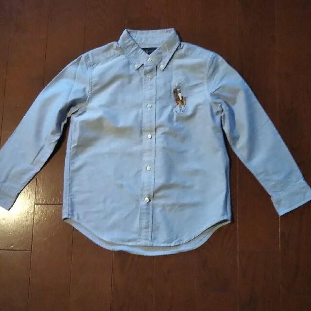 POLO RALPH LAUREN(ポロラルフローレン)のRALPH LAUREN 130 ライトブルー シャツ キッズ/ベビー/マタニティのキッズ服男の子用(90cm~)(Tシャツ/カットソー)の商品写真