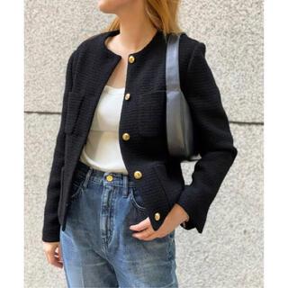 ドゥーズィエムクラス(DEUXIEME CLASSE)のDeuxieme Classe Garconne Tweed ジャケット(ノーカラージャケット)