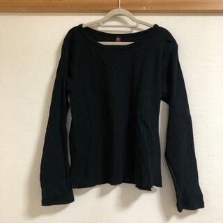 アトリエドゥサボン(l'atelier du savon)の15 リブ長袖カットソー ブラック(Tシャツ(長袖/七分))