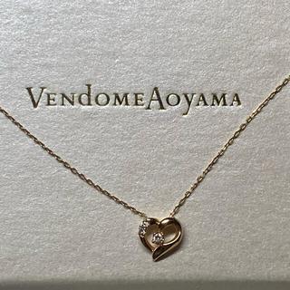 ヴァンドームアオヤマ(Vendome Aoyama)のVENDOME AOYAMA ピンクゴールドハートネックレス(ネックレス)