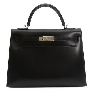 エルメス(Hermes)のエルメス  2WAYバッグ  ケリー32 外縫い  □O刻印 ブラック(ハンドバッグ)