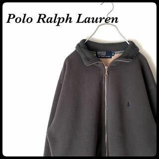ポロラルフローレン(POLO RALPH LAUREN)の【激レアモデル!】RALPH LAUREN◎フリース 刺繍ロゴ フルジップ(ニット/セーター)