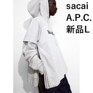 sacai - 新品完売 sacai A.P.C. パーカーL TAIYO サカイ アーペーセー