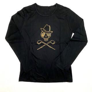 マークアンドロナ(MARK&LONA)の【Alessandro-droshky】手捺染ロングTシャツ M 黒(Tシャツ/カットソー(七分/長袖))