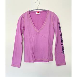 ダブルスタンダードクロージング(DOUBLE STANDARD CLOTHING)のダブル スタンダード クロージング パープル系 長袖Tシャツ(Tシャツ(長袖/七分))