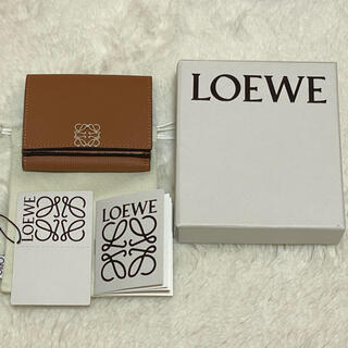 LOEWE - LOEWE アナグラム6ccウォレット タン