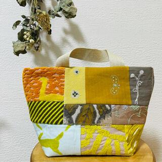 mina perhonen - ハンドメイド ミナペルホネン⚮̈小さなトートバッグ yellow