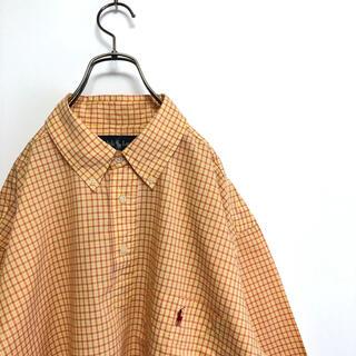 Ralph Lauren - 90s古着 ラルフローレン プルオーバー BDシャツ M 大きめ チェック レア