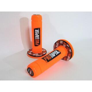 PRO TAPER プロテーパー バイク ハンドル ラバーグリップ オレンジ(モトクロス用品)