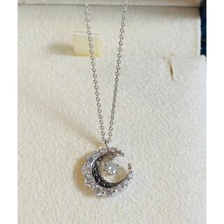 ヴァンドームアオヤマ(Vendome Aoyama)のESTELLE ダイヤモンドK18WGムーンネックレス 0.36ct 美品(ネックレス)