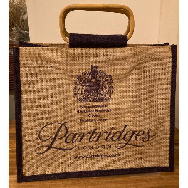 Harrods(ハロッズ)のパートリッジズ ジュート エコバッグ バンブーハンドル レディースのバッグ(エコバッグ)の商品写真
