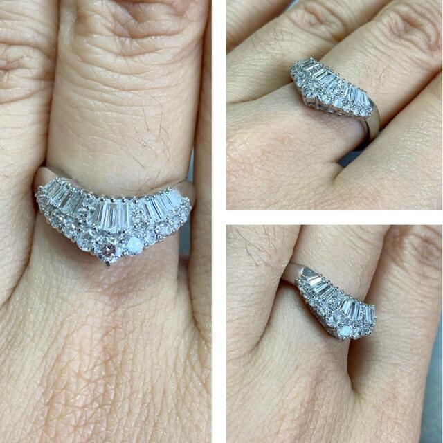 Pt900 0.68ct VS〜SI ダイヤモンド リング 指輪 レディースのアクセサリー(リング(指輪))の商品写真