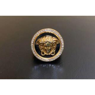 Gianni Versace - ジャンニ ヴェルサーチ 18k メデューサ メダリオン ダイヤ リング 750