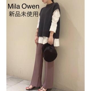 ミラオーウェン(Mila Owen)の新品未使用【Mila Owen】センタープレスイージーシガレットパンツ PNK(カジュアルパンツ)