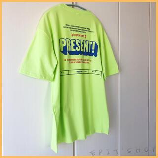 【新品】レディース トップス バックプリント オフショルダー Tシャツ Mサイズ