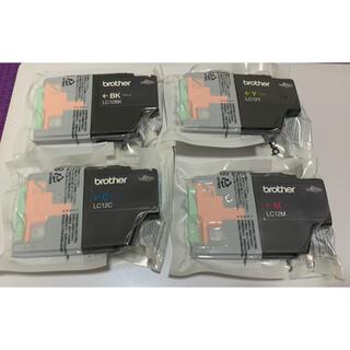 ブラザー(brother)のブラザー純正・LC12-4PK インクカートリッジ4色入り 新品 未使用(PC周辺機器)