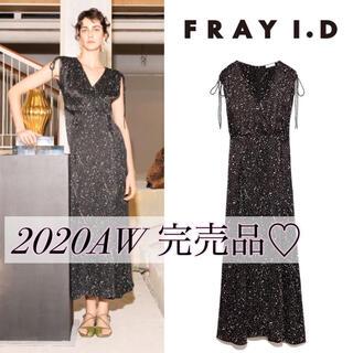 FRAY I.D - 今季♡2020AW  フレイアイディー ギャザーサテンワンピース スナイデル