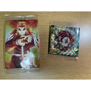 バンダイ(BANDAI)の鬼滅の刃 ウエハース 極レアとカードの2セット(ステッカー(シール))