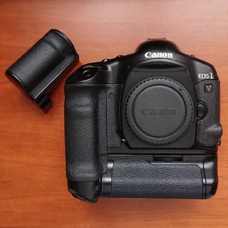 キヤノン(Canon)のcanon EOS-1v (PB-E2付) (フィルムカメラ)