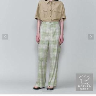 ビューティアンドユースユナイテッドアローズ(BEAUTY&YOUTH UNITED ARROWS)のROKU NEP CHECK PANTS 34サイズ(カジュアルパンツ)