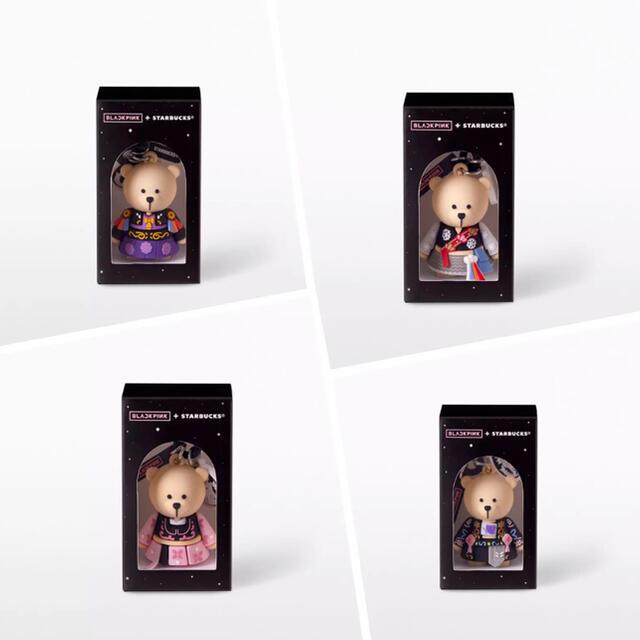 Starbucks Coffee(スターバックスコーヒー)のスターバックス タイ 限定 ブラックピンク コラボ  ベアリスタ  キーホルダー レディースのファッション小物(キーホルダー)の商品写真