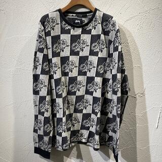 ステューシー(STUSSY)のSTUSSY総柄ロングT(Tシャツ/カットソー(七分/長袖))