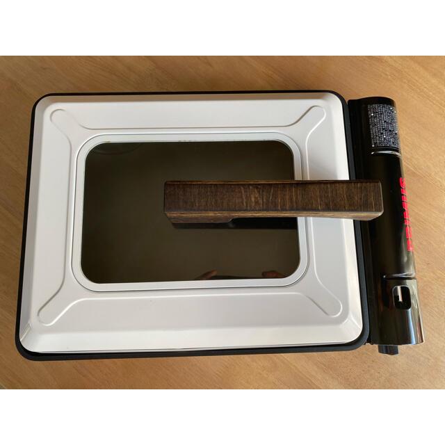 Iwatani(イワタニ)のイワタニ 焼き上手さんα専用グリップ 取手 シナ積層合板 エボニー ハンドメイド スポーツ/アウトドアのアウトドア(調理器具)の商品写真