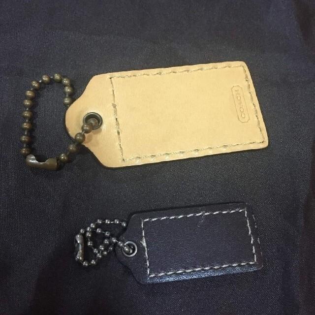COACH(コーチ)の正規2つコーチレザーチャームと1枚保存袋 レディースのバッグ(ショップ袋)の商品写真