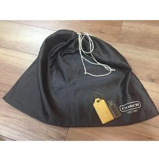 COACH - 正規2つコーチレザーチャームと1枚保存袋