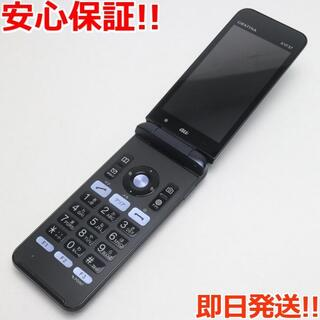 キョウセラ(京セラ)の美品 GRATINA KYF37 ブラック 本体 白ロム (携帯電話本体)