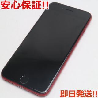 アイフォーン(iPhone)の超美品 SIMフリー iPhone8 64GB レッド (スマートフォン本体)