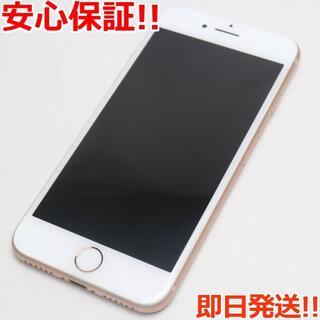 アイフォーン(iPhone)の超美品 SIMフリー iPhone8 64GB ゴールド (スマートフォン本体)