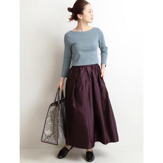 イエナ(IENA)の美品♡IENA AIDAタフタギャザースカート ボルドー36(ロングスカート)