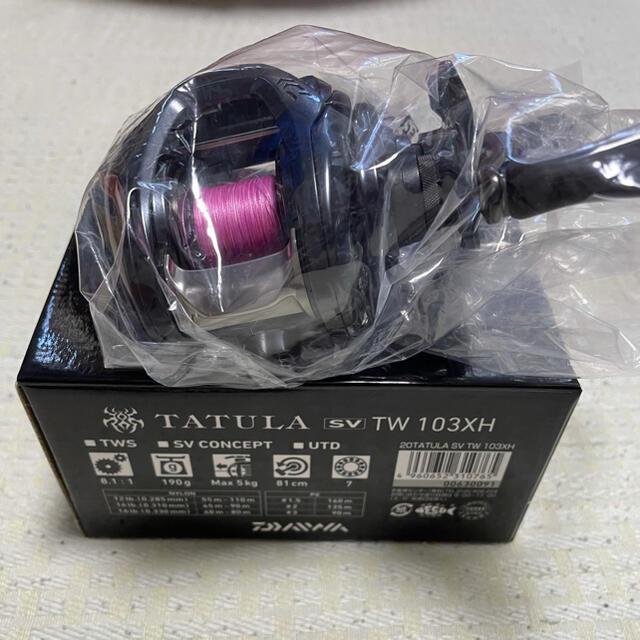 DAIWA(ダイワ)の美品ダイワタトゥーラSV TW R スポーツ/アウトドアのフィッシング(リール)の商品写真