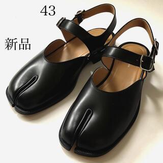 マルタンマルジェラ(Maison Martin Margiela)の新品/43 メゾン マルジェラ 足袋 TABI タビ サンダル 黒 ブラック(サンダル)