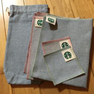 スターバックスコーヒー(Starbucks Coffee)のStarbucks アップサイクルコットングッズ5点セット(テーブル用品)
