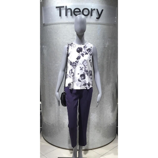 セオリー(theory)のTheory セオリー*フラワープリント ブラウス*今季 秋(シャツ/ブラウス(半袖/袖なし))