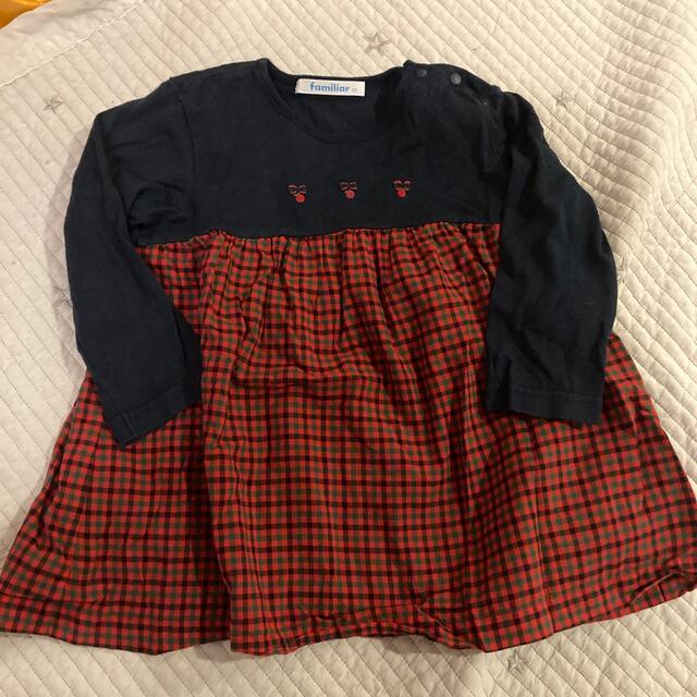 familiar(ファミリア)のファミリア ロンT 90 キッズ/ベビー/マタニティのキッズ服女の子用(90cm~)(Tシャツ/カットソー)の商品写真