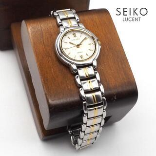 グランドセイコー(Grand Seiko)の《一点物》SEIKO LUCENT 腕時計 ホワイト クォーツ 生活防水(腕時計)