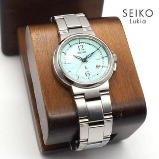グランドセイコー(Grand Seiko)の《美品》SEIKO lukia 腕時計 ミントグリーン デイト 10気圧防水(腕時計)