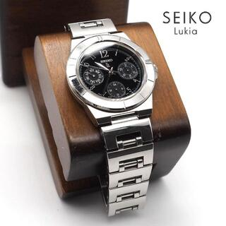グランドセイコー(Grand Seiko)の《一点物》SEIKO lukia 腕時計 ブラック トリプルカレンダー クォーツ(腕時計)